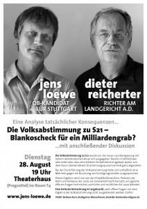 Jens Loewe und Dieter Reicherter im Theaterhaus