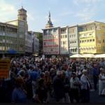 Montagsdemo am Marktplatz