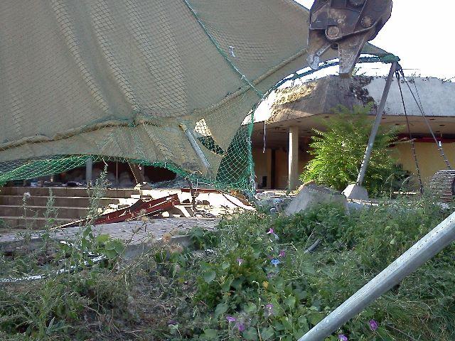 Abriss Landespavillon Stuttgart