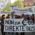 31.08.2012 Demonstration am 8. September in Karlsruhe / Twitter-Kampagne #StoppESM Am 23. August begann die von Präsident, Kanzlerin und anderen Staats- und Parteifunktionären gedeckte und von 11 finanzstarken Stiftungen u.a. […]