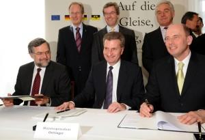 Unterzeichnung der Finanzierungsverträge 2009