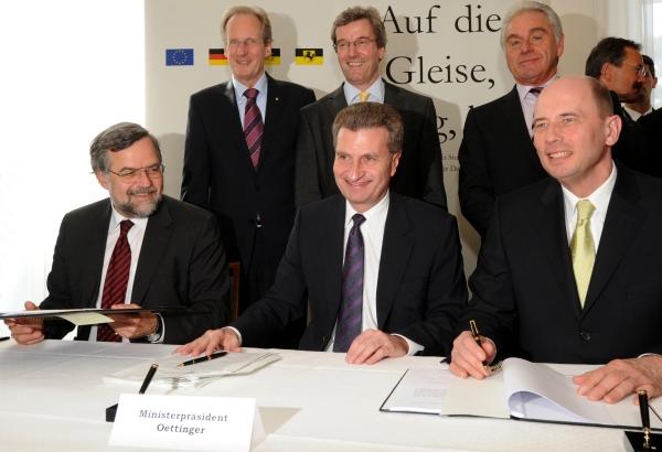 Unterzeichnung des Finanzierungsvertrages