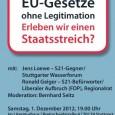 Stuttgart 01.12.2012 Veranstaltung: EU-Gesetze ohne Legitimation – Erleben wir einen kalten Staatsstreich? Aufzeichnung von cams21: