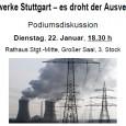 Update 23.01.13 Podiumsdiskussion am 22.01.2013 Das Stuttgarter Wasserforum, setzt sich für die dezentrale Energiewende ein, und fordert die Ausschreibungen, für Strom, Gas und Fernwärme sofort zu stoppen. Der Gemeinderat hat […]