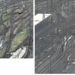 Vergleich vor- und nach Umbau Gleisvorfeld für S21