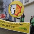 Bundesweiter Protesttag in mehr als 35 Städten Pressemitteilung von Greenepace: Stuttgart, 23. März 2013 – Greenpeace Stuttgart protestiert heute von 14:30 bis 15:30 Uhr an der Shell-Tankstelle in der […]
