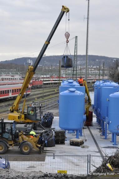Auch die Ausführung der Wasserbehandlungsanlage im Abstellbahnhof scheint den Unterlagen der Planänderung zu entsprechen.