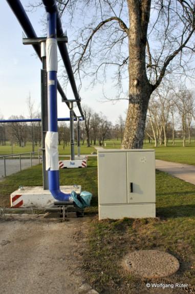 Der Infiltrationsbrunnen am Bolzplatz im Rosensteinpark wurde an einen noch nicht genehmigten Standort verlegt.