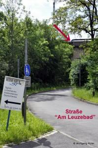 Abzweigung der nicht genehmigten Überschussleitung zur Einleitungsstelle in den Neckar