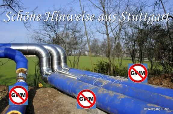 Im PFA 1.1 (v.l.n.r.): Infiltrationsleitung zum Brunnen 153, Verbundleitung, Überschussleitung vom ZOB – alles Gegenstand der 7. Planänderung.