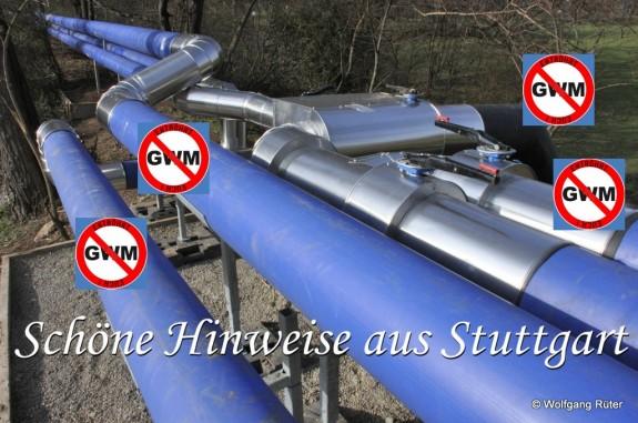 Im PFA 1.1 (v.l.n.r.): Infiltrationsleitung, Verbundleitung, Überschussleitung zum Neckar und Überschussleitung vom ZOB – alles Bestandteil der 7. Planänderung