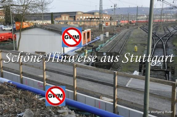 Auch die Infiltrationsleitung im Abstellbahnhof, von der Wasserbehandlungsanlage zu zwei Infiltrationsbrunnen (hinten) ist durchgängig zu groß dimensioniert