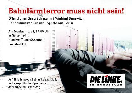 Bahnlärm Sabine Leidig Geisenheim