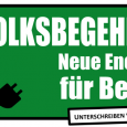 Ziel des Energietisches ist es ähnlich wie in Hamburg, das Berliner Stromnetz zurück zu kaufen und in ein zu 100% aus erneuerbaren Energien, geführtes Stadtwerk umzustrukturieren.  Der bisherige Betreiber Vattenfall versucht dies bis zur letzten Minute, mit einer massiven Werbeoffensive, zu verhindern.