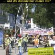 """Etwa 250 Personen demonstrierten am Samstag in Mannheim gegen das Projekt Stuttgart21. Die Demo ist Teil einer Kampagne unter dem Motto """"Tunnelbohrer zerstört Stuttgart - Stuttgart 21 ruiniert  das Land"""" mit der die Projektgegner den Transport  der Tunnelbohrmaschine von Kehl nach Stuttgart  begleiten werden."""