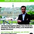 """Im Rahmen des Bundestagswahlkampfes 2013 war Cem Özdemir am vergangenen Freitag, dem 9.8.2013 in Stuttgart-Möhringen im Bürgerhaus zu einer Veranstaltung zum Thema """"Stadt, Land, Bund: Was die Bundestagswahl für Stadt […]"""