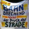 Am Tag vor der Bundestagswahl 2013 laden die Parkschützer ein zur Laufdemo Sonderauflage um 14 Uhr auf den Schlossplatz in Stuttgart. In einem Beitrag von Andrea Schmidt wird sie das […]