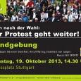 """Ein echtes Hammerprogramm erwartet uns am 19.10.2013 ab 14:30 Uhr auf dem Stuttgarter Schlossplatz: eine aufrüttelnde Rede von Kolumnist Joe Bauer der Blick von außen: Heinrich Steinfest, Autor von""""Wo die […]"""