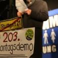 Jetzt erst recht! Die 203. Montagsdemo am 23. Dezember 2013 findet ab 18 Uhr gegenüber dem Stuttgarter Hauptbahnhof statt. Demozug über die Lautenschlagerstraße, Friedrichstraße, Theodor-Heuss-Straße, Kienestraße zum Kronprinzplatz, dort findet […]