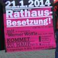 Heute morgen wurde OB Fritz Kuhn einBriefübergeben, mit der Forderung den Strafantrag für die Rathausnutzung am 10./11.11.2012 zurückzuziehen und keine strafrechtlichen Hürden für Bürgerbeteiligung aufzubauen. Kurz und gut der Oberbürgermeister […]