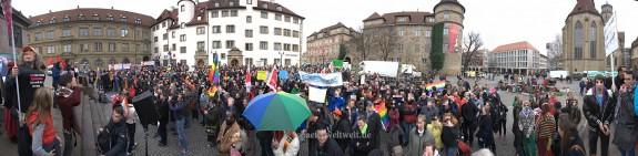 Demo für die Vielfalt auf dem Schillerplatz ©2014 - Alexander Schäfer