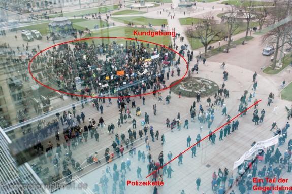 Demo gegen den Bildungsplan auf dem Schloßplatz ©2014 - Alexander Schäfer
