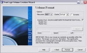 Volume Format festlegen