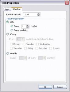 Eraser Task: Terminierung des Task