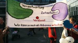 Demo Rettet unsere Hebammen Stuttgart 8.3.14