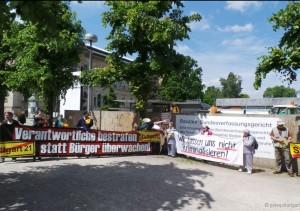 karlsruhe demo bauzaun banner 1