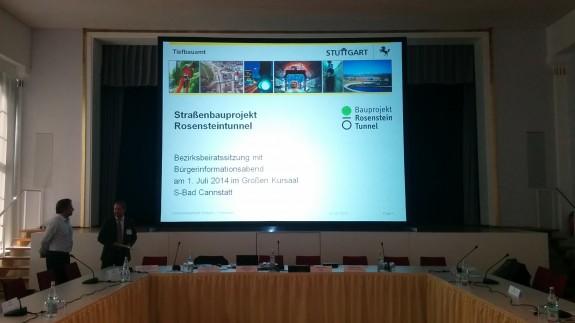 Informationsveranstaltung Straßenbauprojekt Rosensteintunnel 01.07.2014