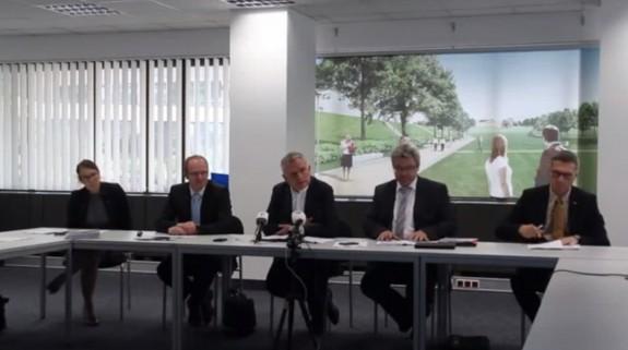 Pressekonferenz: Zeitplan und Status der Bauarbeiten beim Bahnprojekt Stuttgart–Ulm 02.07.2014