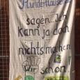 Am Dienstag den 05.08.2014 fanden anlässlich des weiteren unumkehrbaren Baustarts zu Stuttgart 21 (diesmal Beginn des Aushubs der Baugrube Nr. 16 im Mittleren Schlossgarten) eine Bannerparade, Mönchswarnung sowie eine Politikersample-Beschallung […]