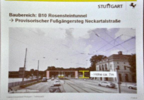 Geplanter Fussgängerbehelfssteg - Foto: Wolfgang Rüter