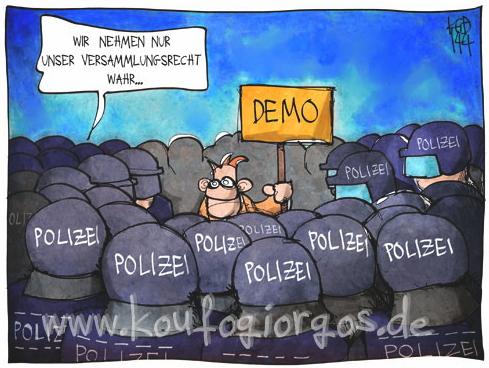 versammlungsfreiheit polizei