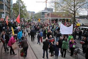 Demonstrationszug gegen TTIP, 18.4.2015