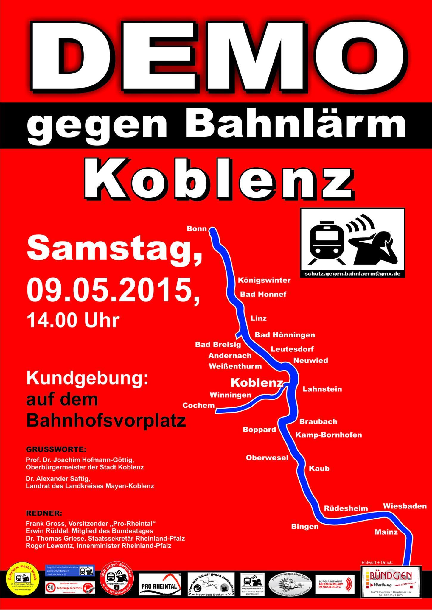 Demoplakat Koblenz