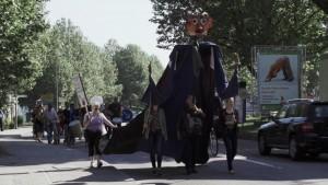TTIP Monster bei der Demo gegen TIPP in Marbach