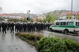 Polizeipräsenz am 1. Mai