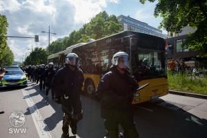 SSB-Busse bringen die PEGDIA-Anhänger aus der Innenstadt (Foto: Schäferweltweit)