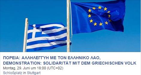 montagsdemo 277 soli flaggen greece