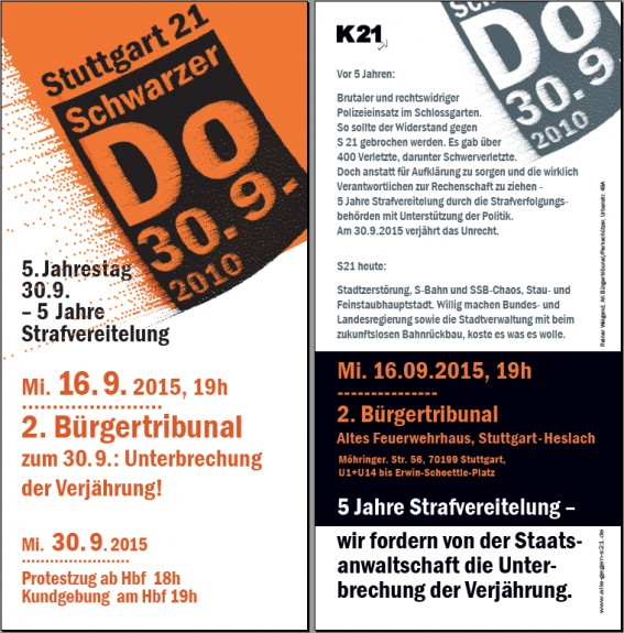 buergertribunal II flyer