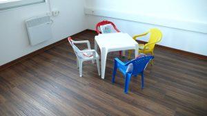 Auch der Raum zur Kinderbetreuung ist noch ausbaufähig. Aber die Johanniter werden noch eine kindgerechte Ausstattung und die entsprechende soziale Betreuung aufbauen.