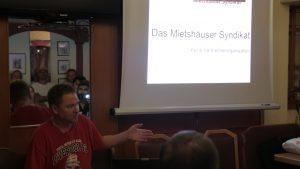 Vortrag von Timon Haidlinger über das Mietshäuser Syndikat