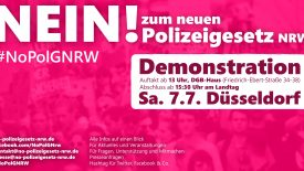 Am 07.07.2018 fand in Düsseldorf bei strahlendem Sonnenschein und warmen Temperaturen die lange angekündigte Großdemonstration gegen das neue Polizeigesetz statt. Eigentlich hätte dieses Gesetz bereits in dieser Woche im Rahmen […]
