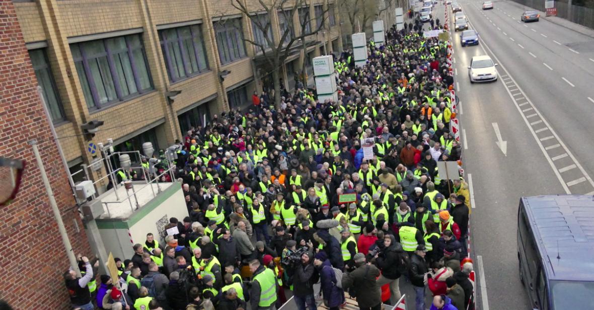 Demonstration gegen Fahrverbote