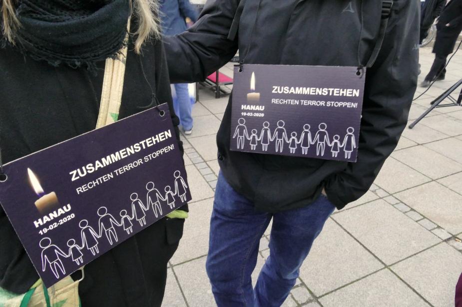Kundgebung gegen rechten Terror