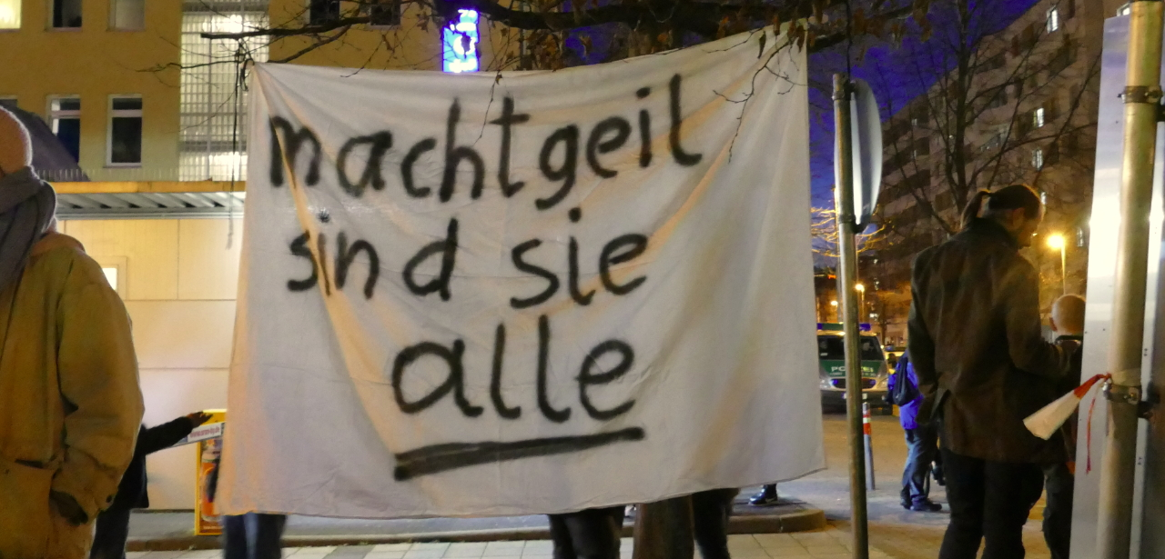 Dammbruch in Thüringen – Demonstration in Stuttgart